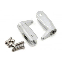 T-Rex 250 - Metal Main Rotor Holder Set/Silver Pro (H25112T)